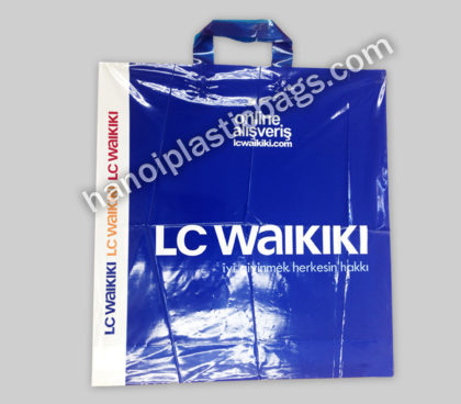 Customs soft loop plastic bag