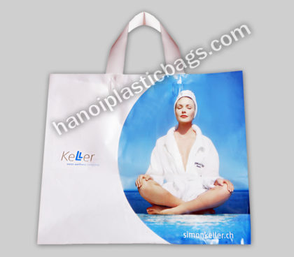 Soft loop plastic bags